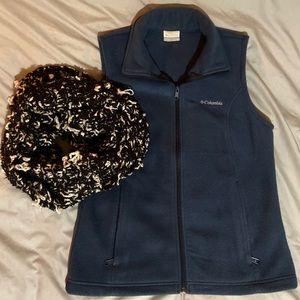 Slate Blue Fleece Vest